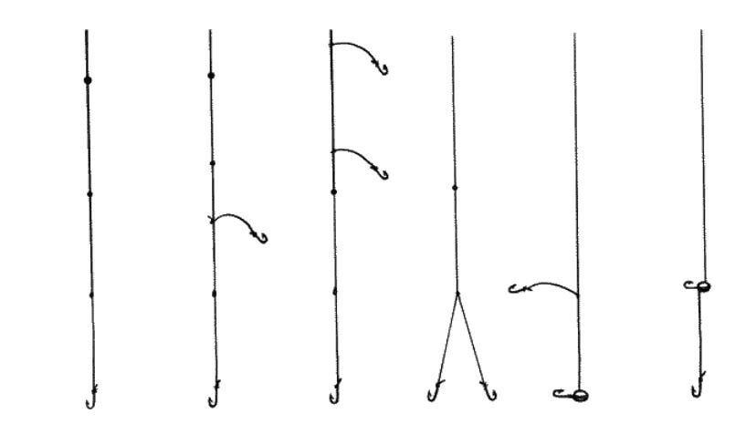 Как привязать 2 крючка на удочку
